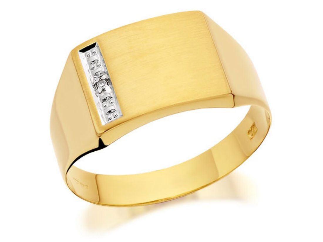 f hinds mens jewellery 9ct gold gentlemans set