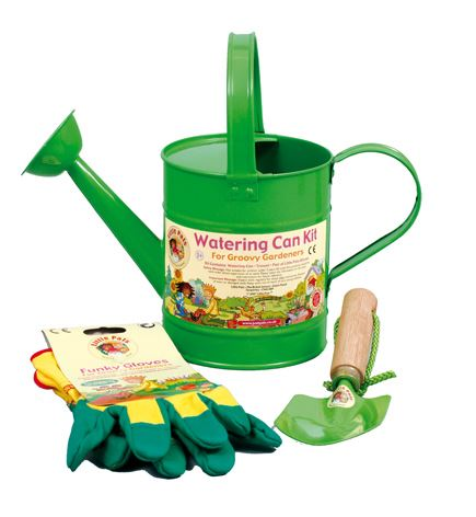 Little pals children 39 s watering can kit gardening gloves for Gardening kit for toddlers