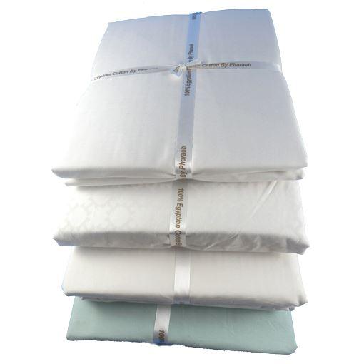 Pharaon lin 100 coton gyptien 200t lit d 39 enfant for Drap housse coton egyptien