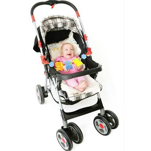 first steps pushchair pram rattle 6m car seat toy bar ebay. Black Bedroom Furniture Sets. Home Design Ideas