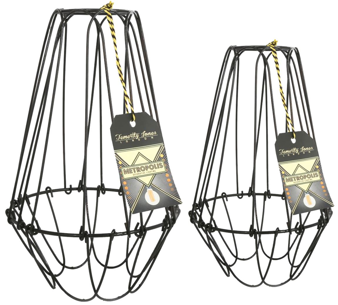 Vintage Cage Wire Lamp Shades Interior Design Old Style Ebay