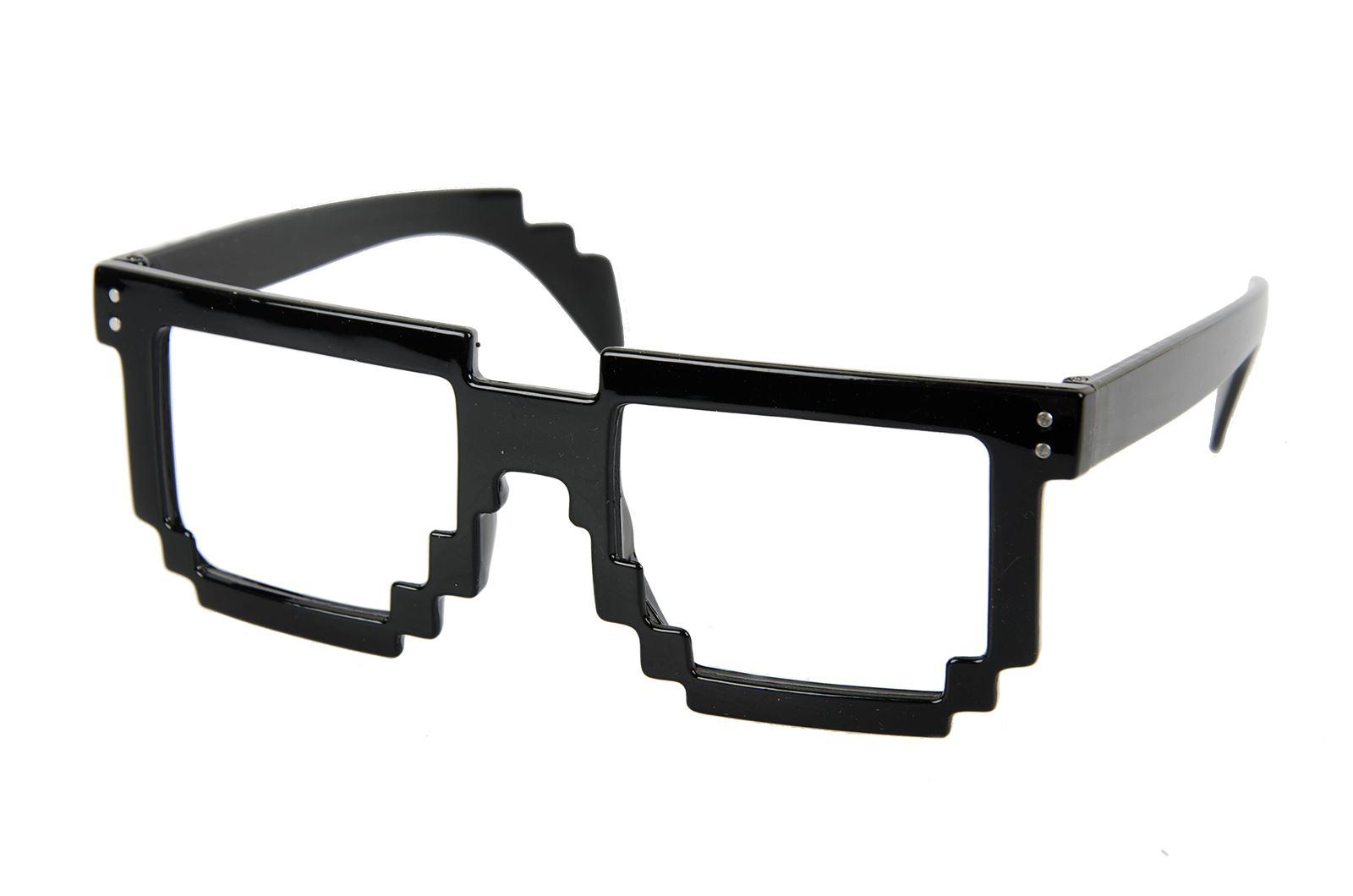 Pixelated Sunglasses  pixel glasses 8 bit geek nerd pixelated sunglasses fancy dress ebay