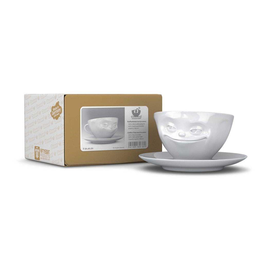 Taza de caf plato taz n tassen porcelana blanca cara - Platos porcelana blanca ...