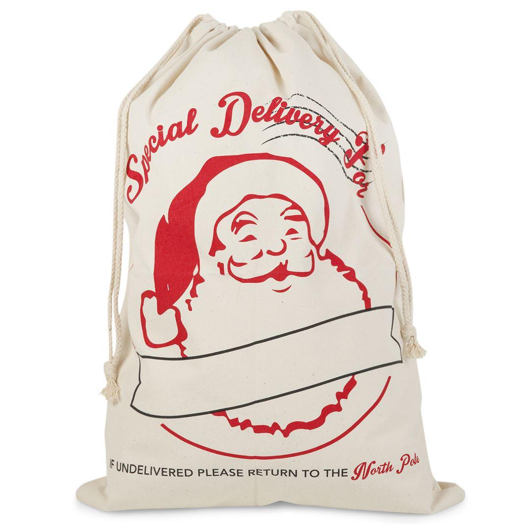 Large hessian christmas xmas santa present sacks
