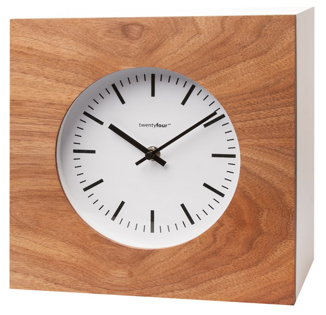 Qubo Cabinet Wall Clock Wood Finish Key Box Storage Holder