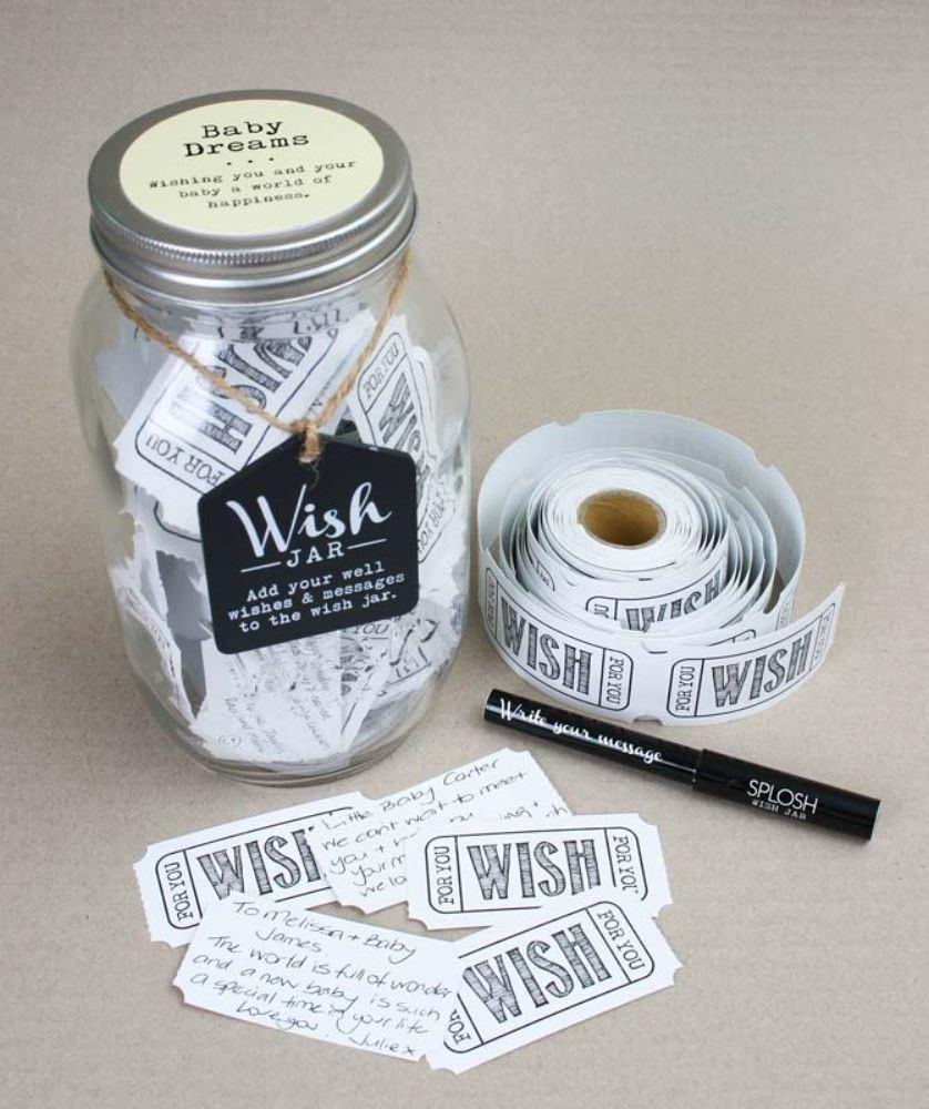 Baby Gift Jars : Splosh wish jars wedding baby shower birthday leaving
