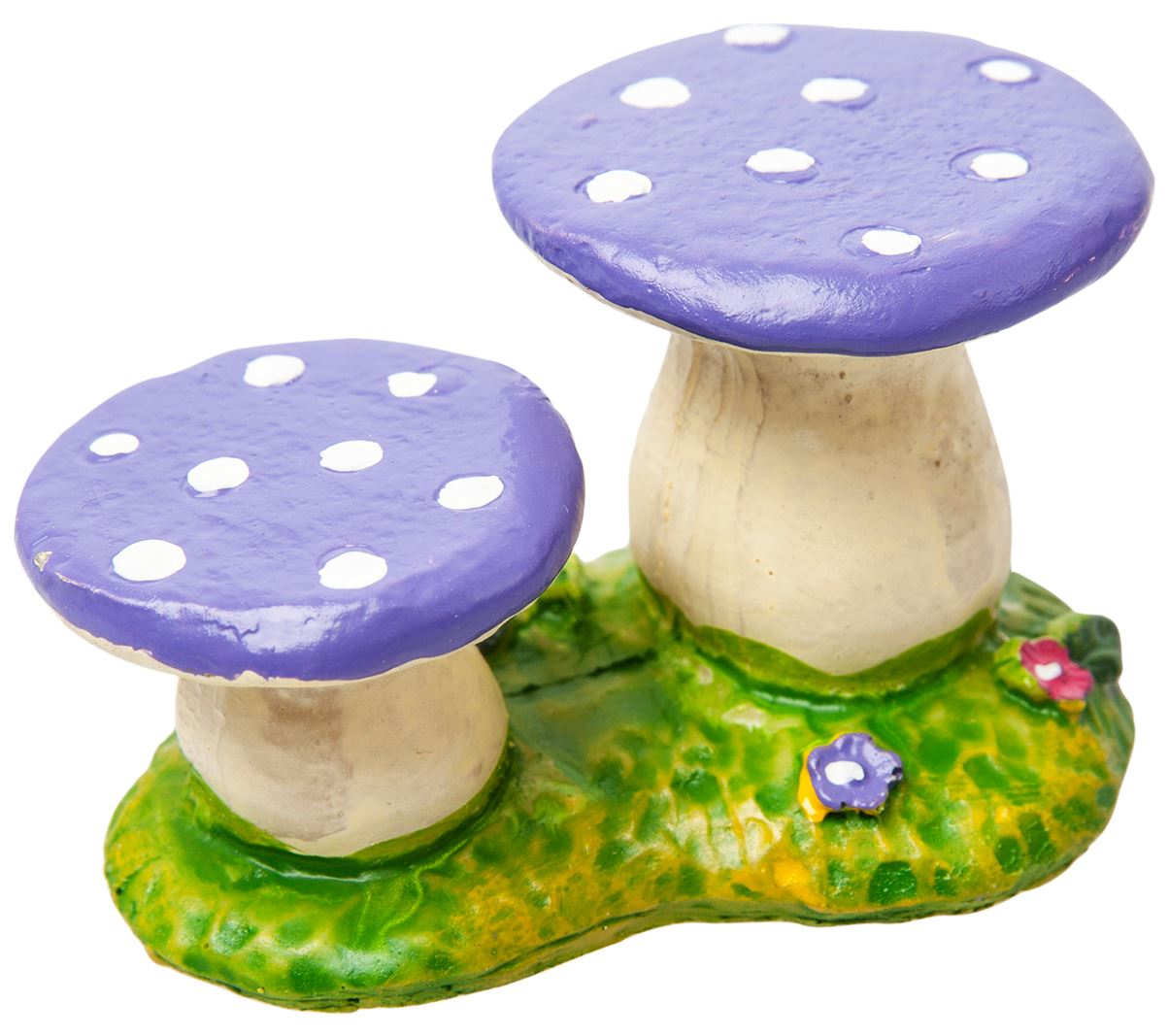 Toadstool Chairs: Miniature Fairy Garden Accessories Resin Toadstool Chairs