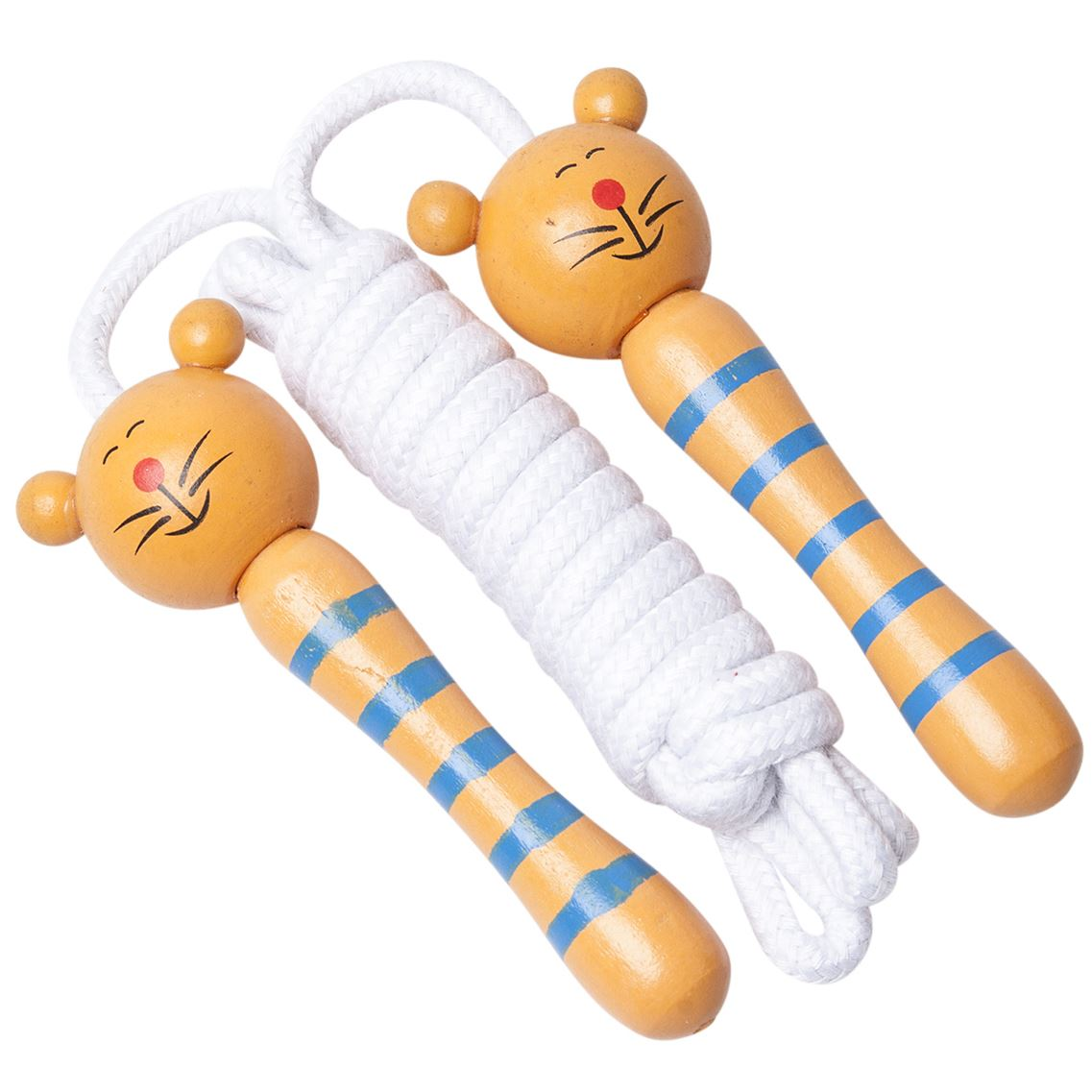 Children S Wooden Handle Skipping Rope Animal Colourful