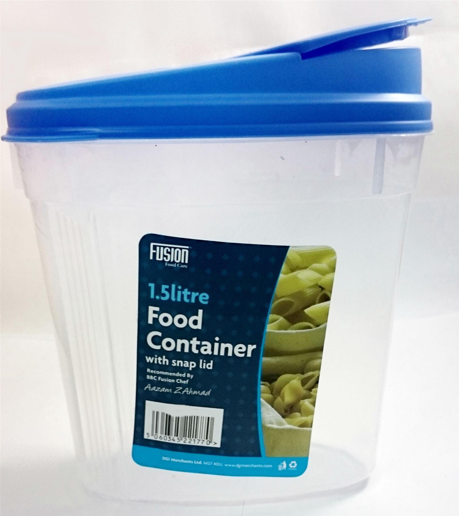1,5 l groß müsli lebensmittelbehälter mit druckknopf deckel