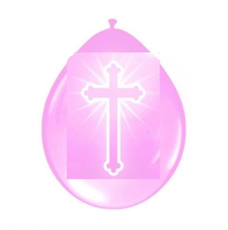 16 cross christening communion balloons boy girl baptism - Decoration table communion fille ...