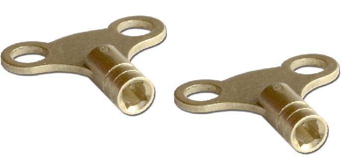 Radiator key solid brass easy grip bleed plumbing tool air