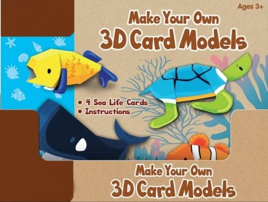 Make Your Own 3d Card Models Creative Kids Gift Toy Fun