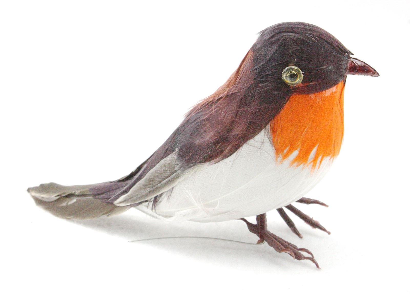 Artificial xmas feather birds robin tree decorations for Artificial birds for decoration