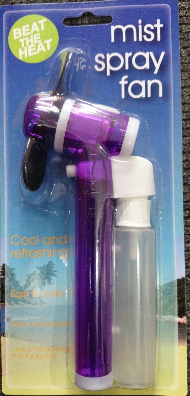 Mist Fan Bottle : Water spray mist fan cooling holiday travel portable hand