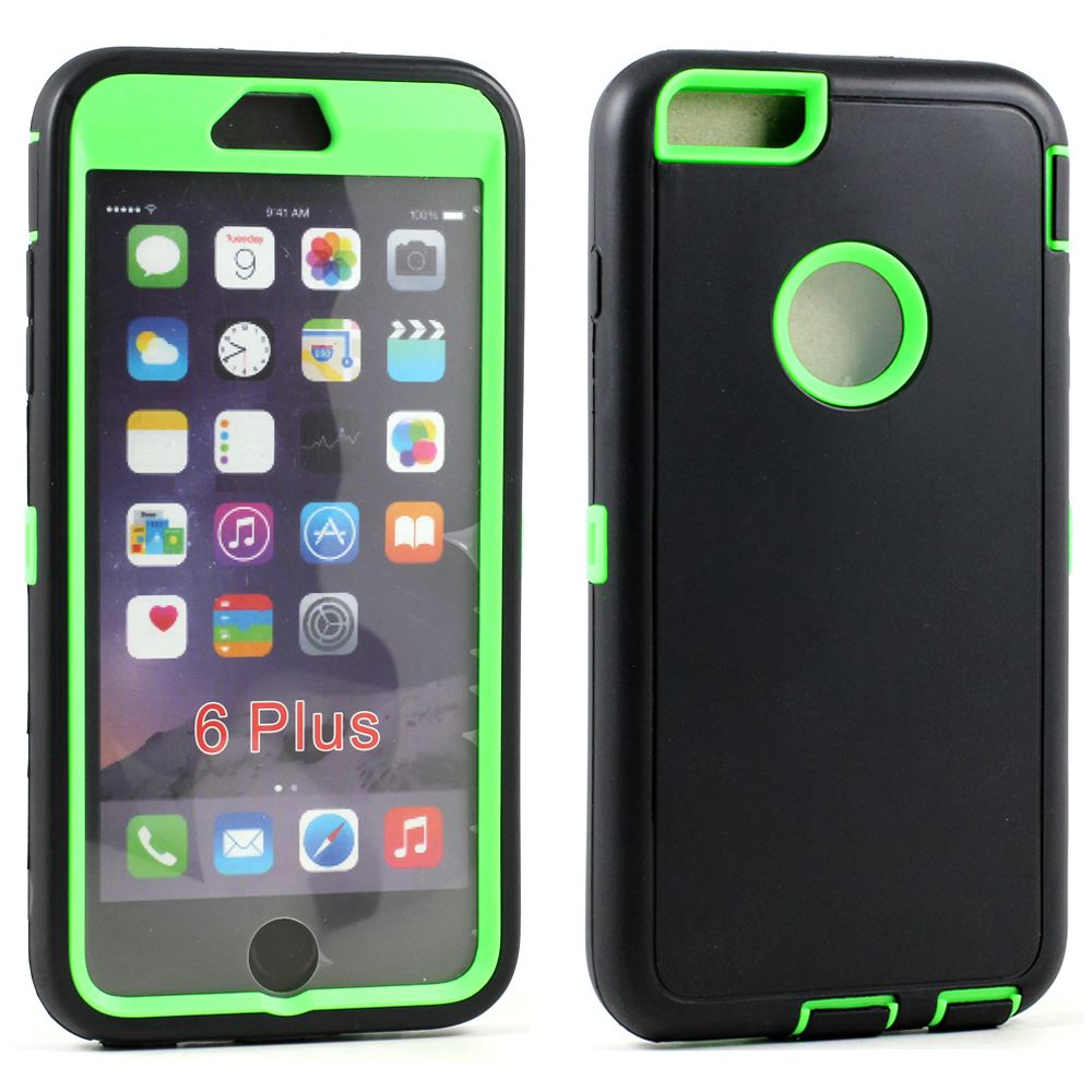 Armor Defender Case For Iphone 6s 6 Plus W Free Tempered