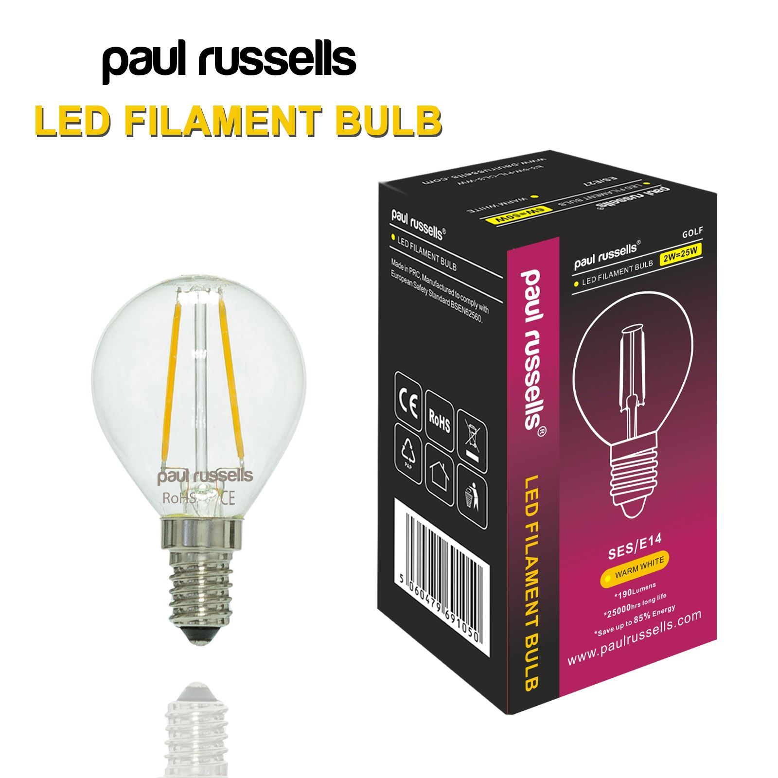 b22 e27 e14 2w 4w led filament light warm white lamp gls candle golf bulbs ebay. Black Bedroom Furniture Sets. Home Design Ideas