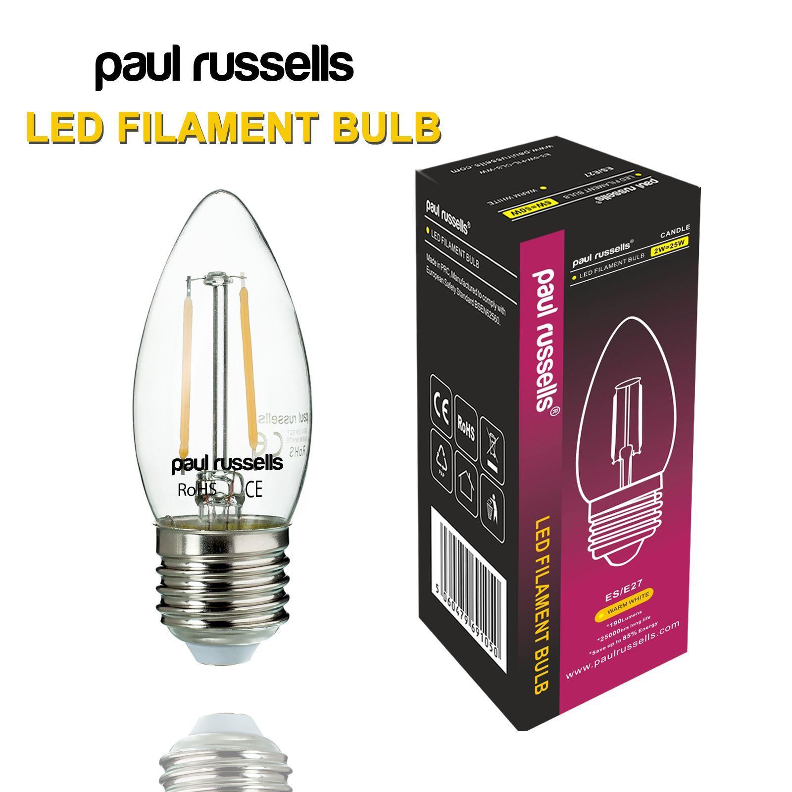 2w 25w 4w 40w e14 e27 b22 led filament candle light bulb lamp ebay. Black Bedroom Furniture Sets. Home Design Ideas