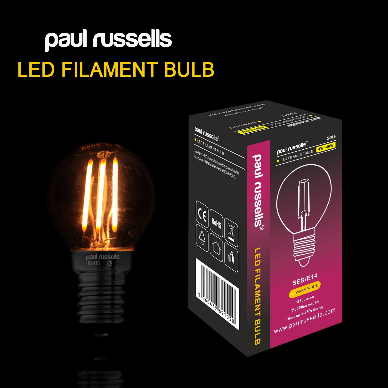 led filament g45 light golf ball bulbs b22 bc es e27 ses e14 lamps ebay. Black Bedroom Furniture Sets. Home Design Ideas