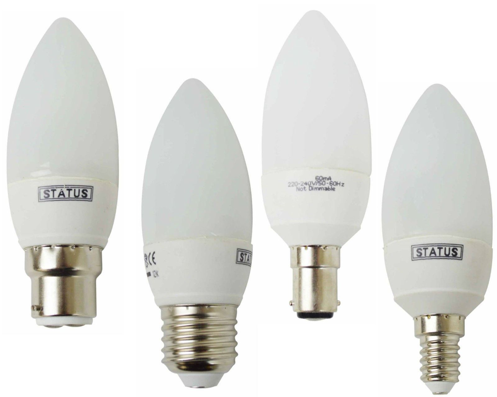Cfl Candle Low Energy Saving Light Bulbs Long Life Lamps E27 B22 E14 B15 Ebay