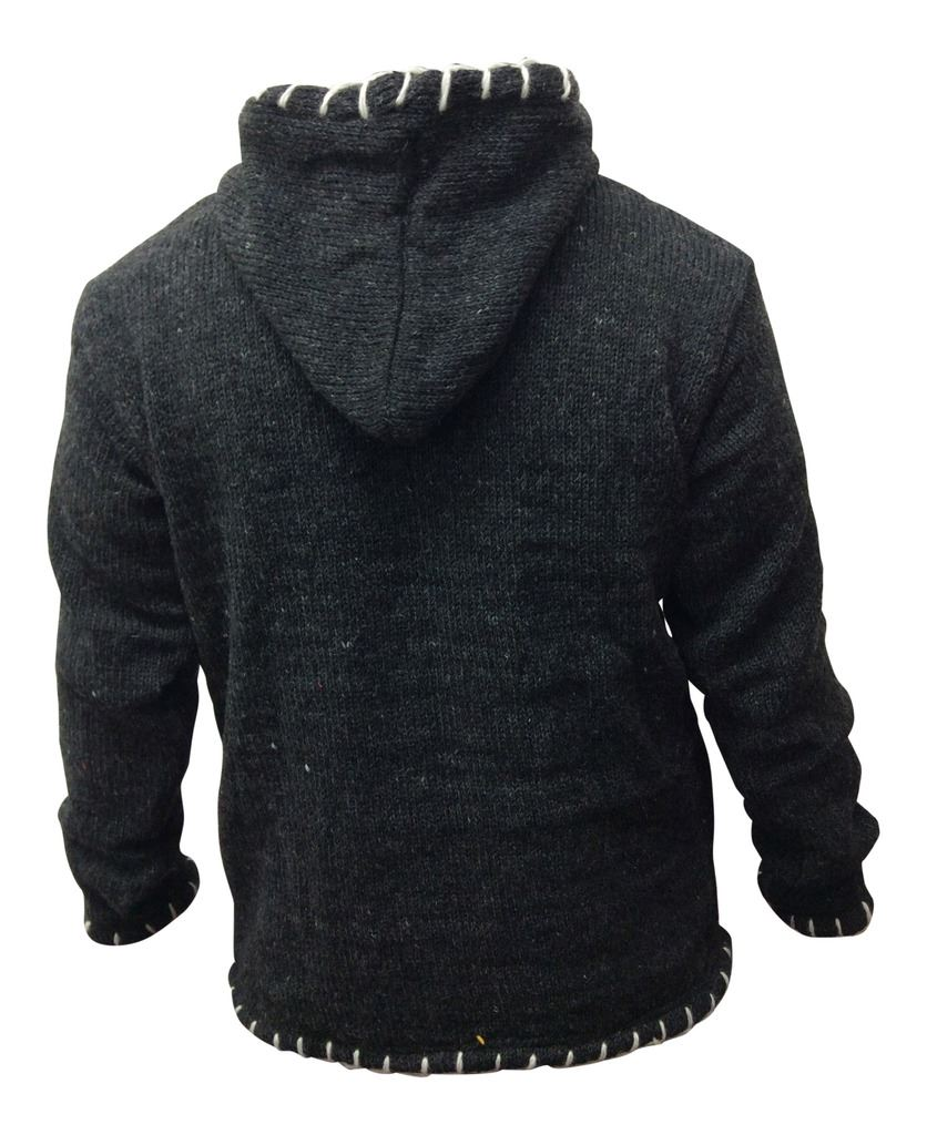 Mens Warm Hippy Style Thick Jumper Regualr Festival Wool Pullover ...
