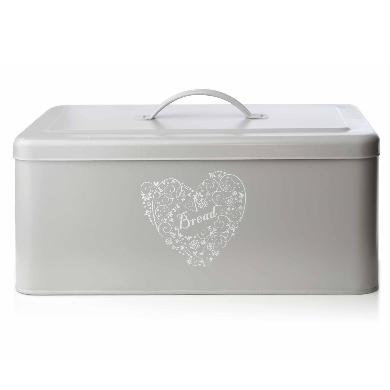 Bread Holder Bin Box Vintage Design Home Kitchen Storage Container Metal Wood Ebay