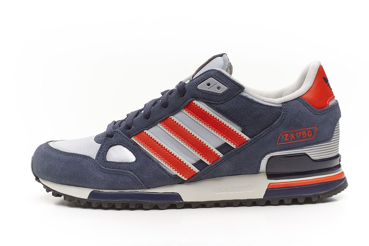 adidas originals herren zx 750 sportschuhe blau orange grau q35491 ebay. Black Bedroom Furniture Sets. Home Design Ideas