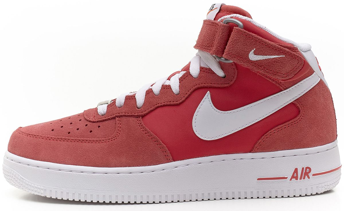 Nike Air Force 1 Mid Suede Fusion Red