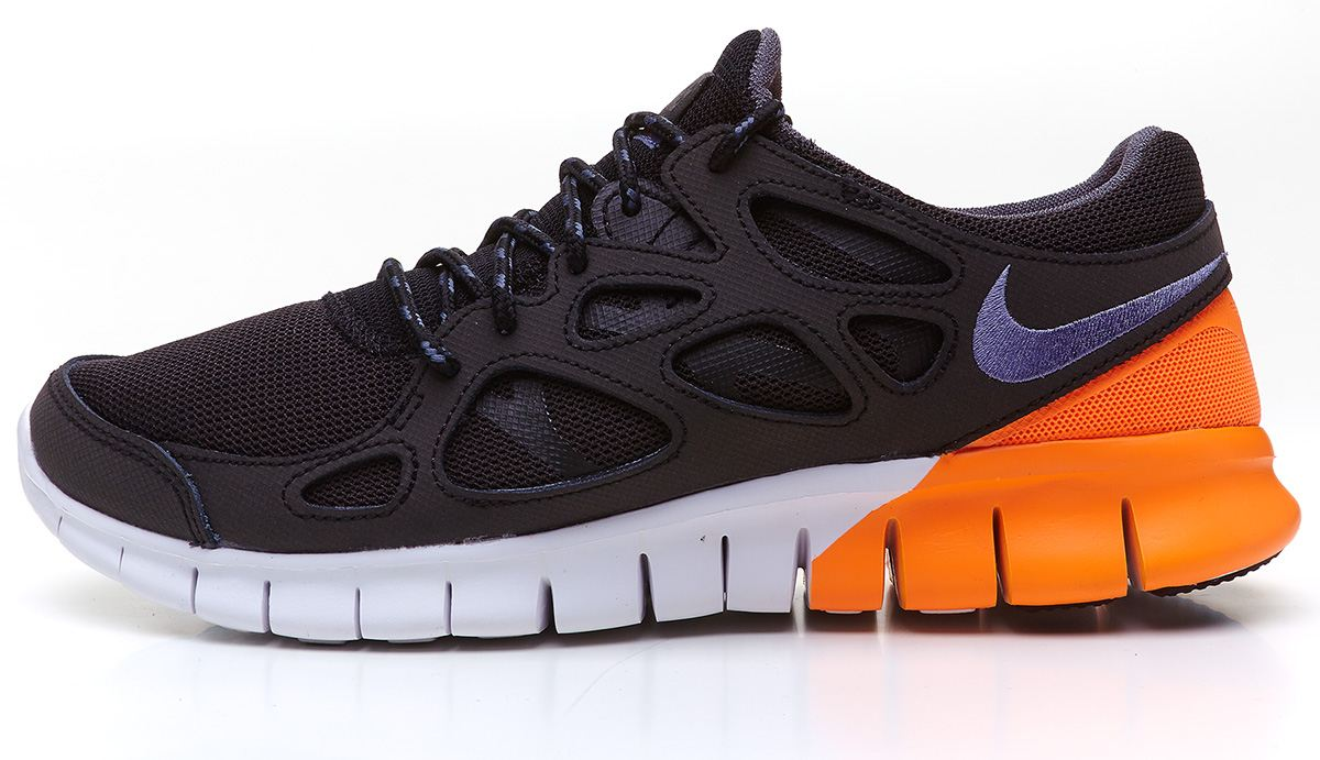 nike free run 2 orange and grey