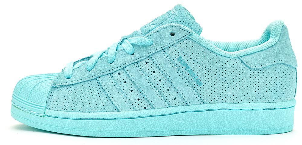 Adidas Superstar Bleu En Daim