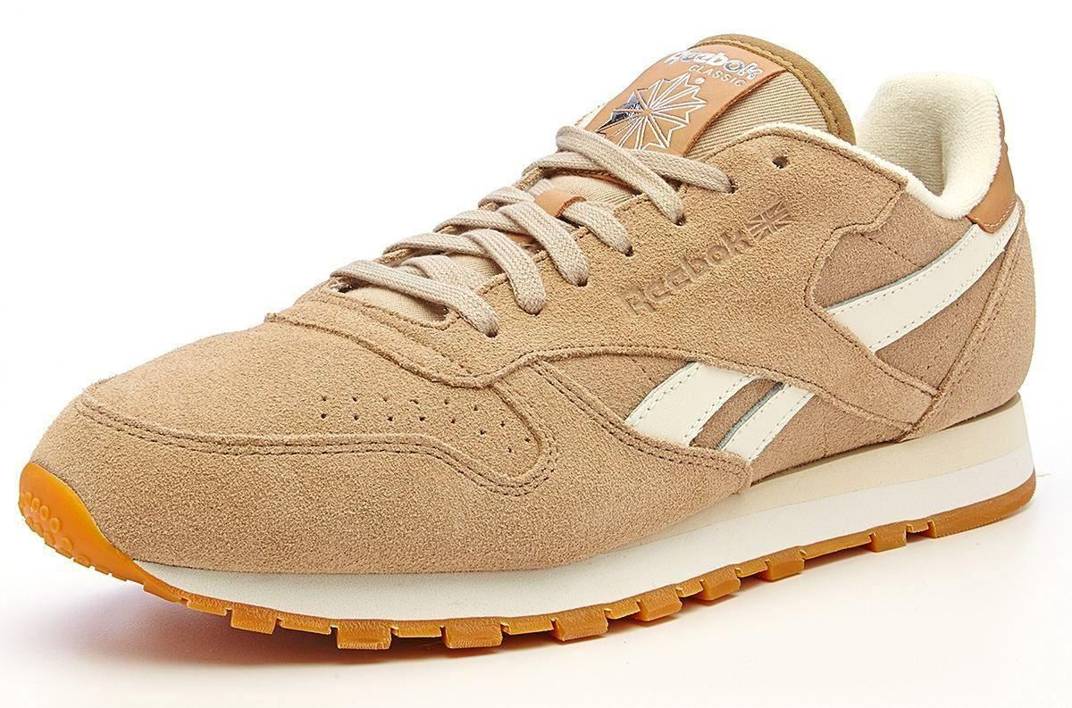 reebok classic leather suede retro trainers sandtrap beige. Black Bedroom Furniture Sets. Home Design Ideas