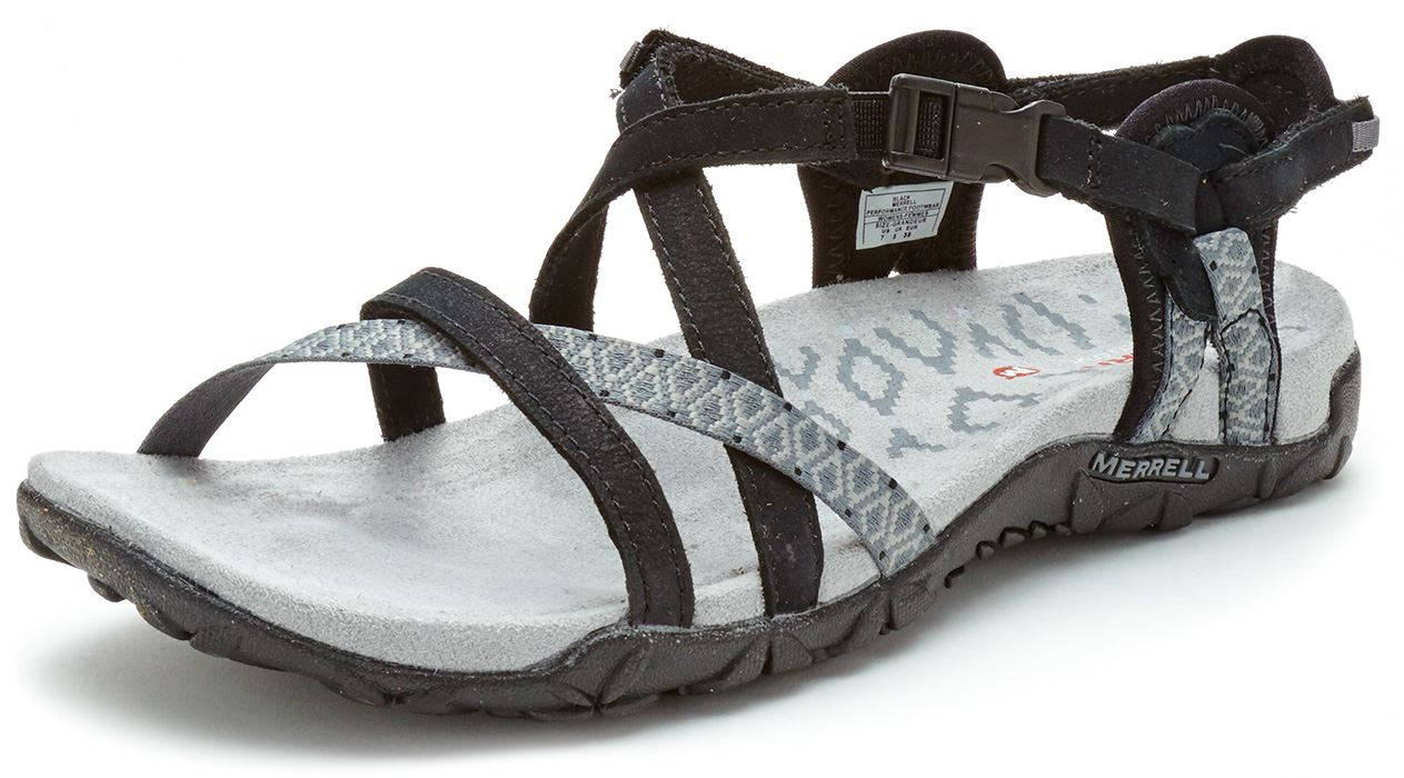Black merrell sandals - Merrell Sandspur Terran Lattice Amp Cross Women Sandals