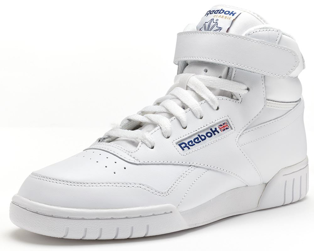reebok classic exofit ex o fit hi trainers in white 3477. Black Bedroom Furniture Sets. Home Design Ideas