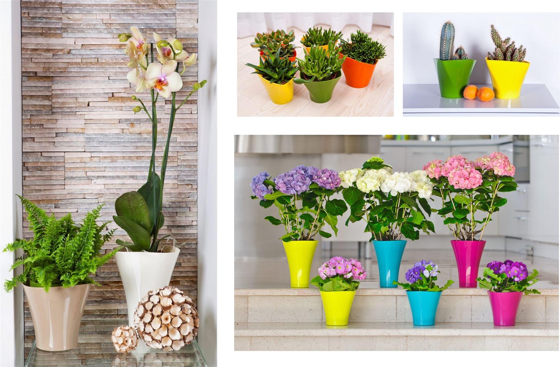 int rieur ext rieur plastique plante pot de fleur jardin d cor maison mariage ebay. Black Bedroom Furniture Sets. Home Design Ideas