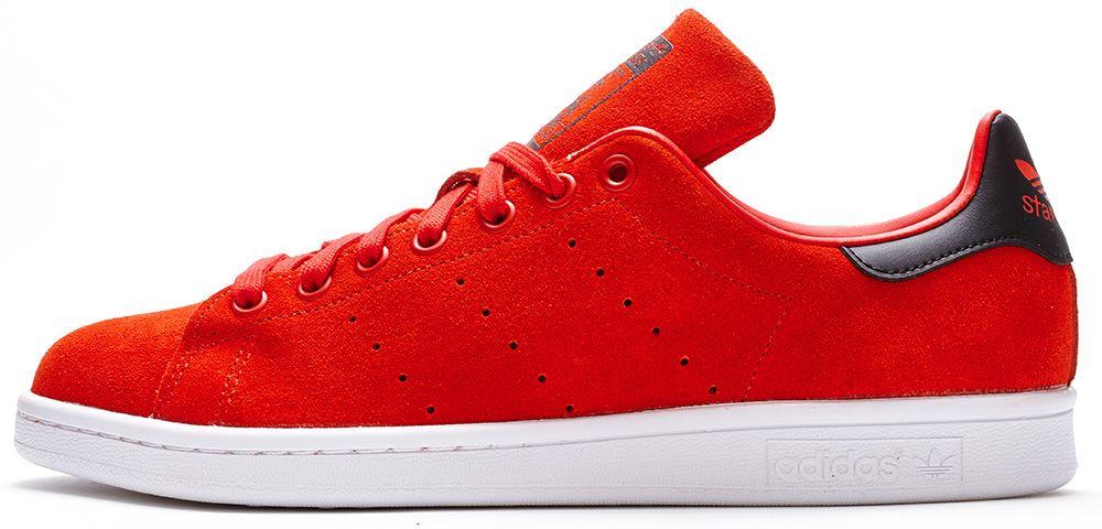 Adidas Stan Smith Noir Et Rouge