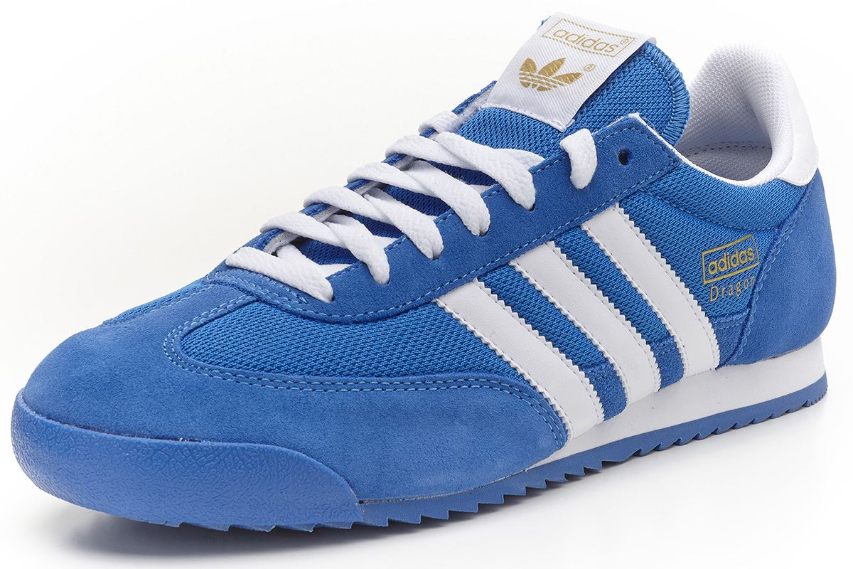 adidas blue trainers