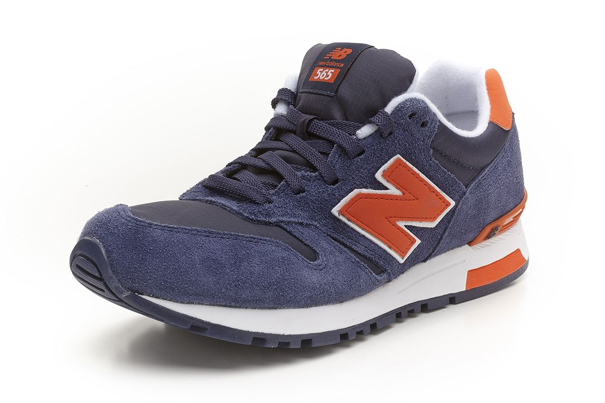 new balance baskets bleu marine et orange r tro classique ml 565 now ebay. Black Bedroom Furniture Sets. Home Design Ideas