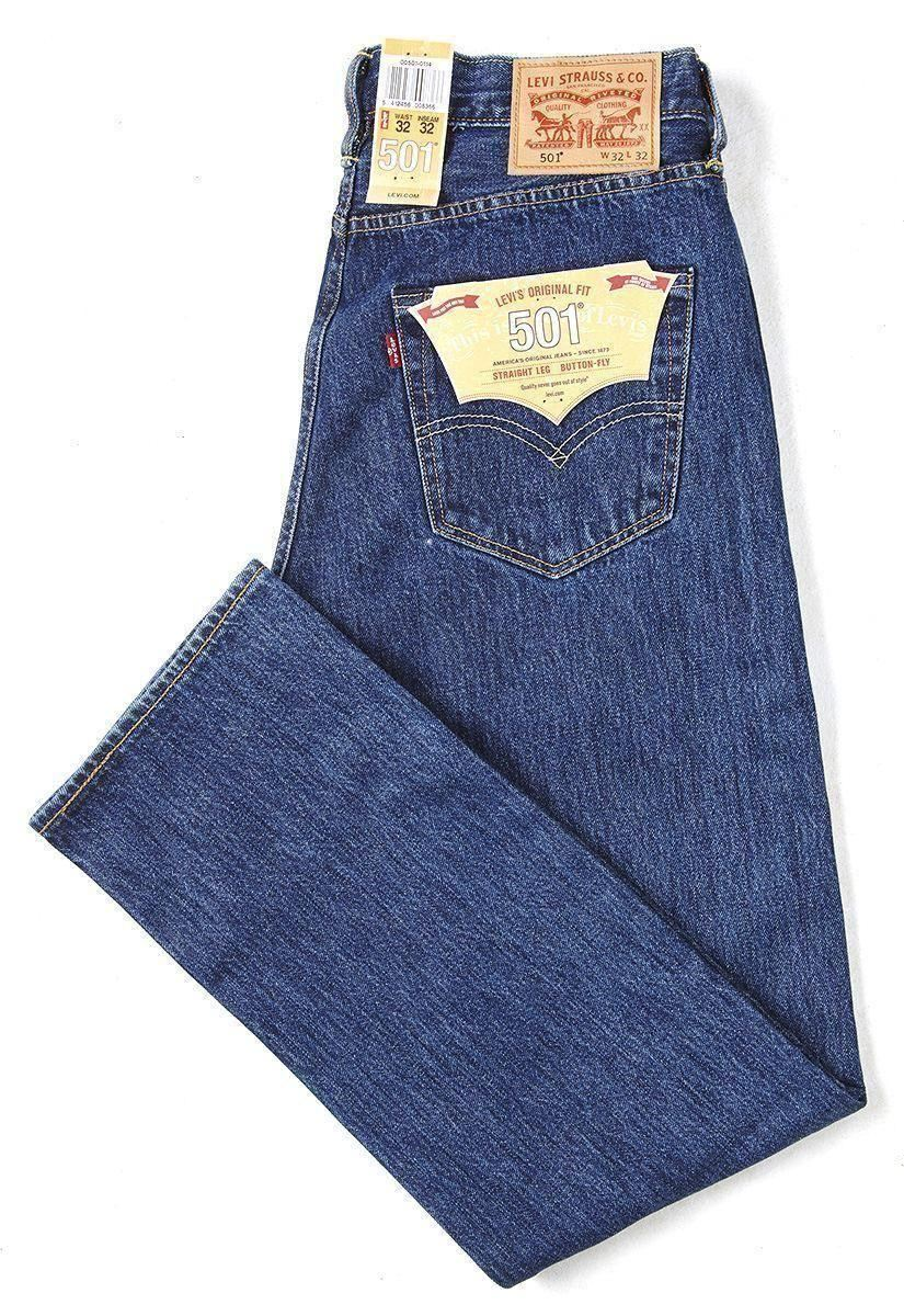 levis 501 original fit classic straight leg button fly jeans ebay. Black Bedroom Furniture Sets. Home Design Ideas