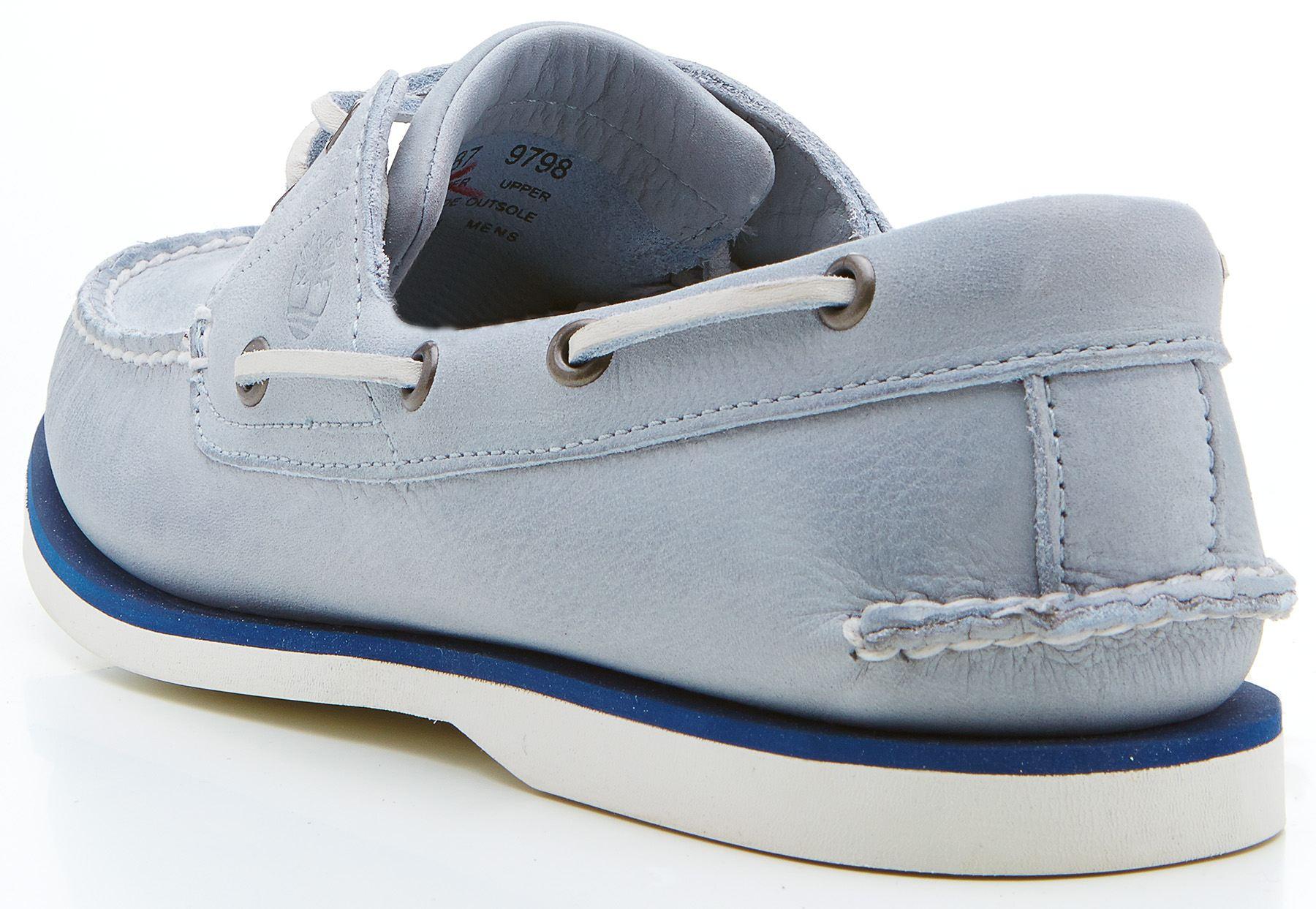 Timberland EK CLS 2-EYE boat shoes light blue 29587   eBay