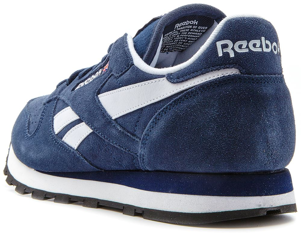 reebok classic leather suede retro trainers navy blue. Black Bedroom Furniture Sets. Home Design Ideas