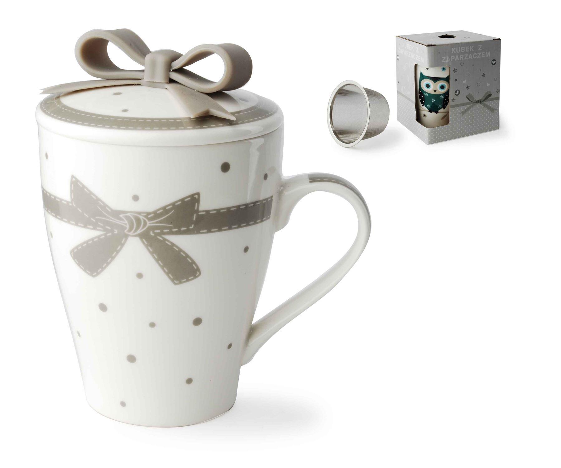 retro shabby chic vintage ceramic travel hot tea mug metal. Black Bedroom Furniture Sets. Home Design Ideas