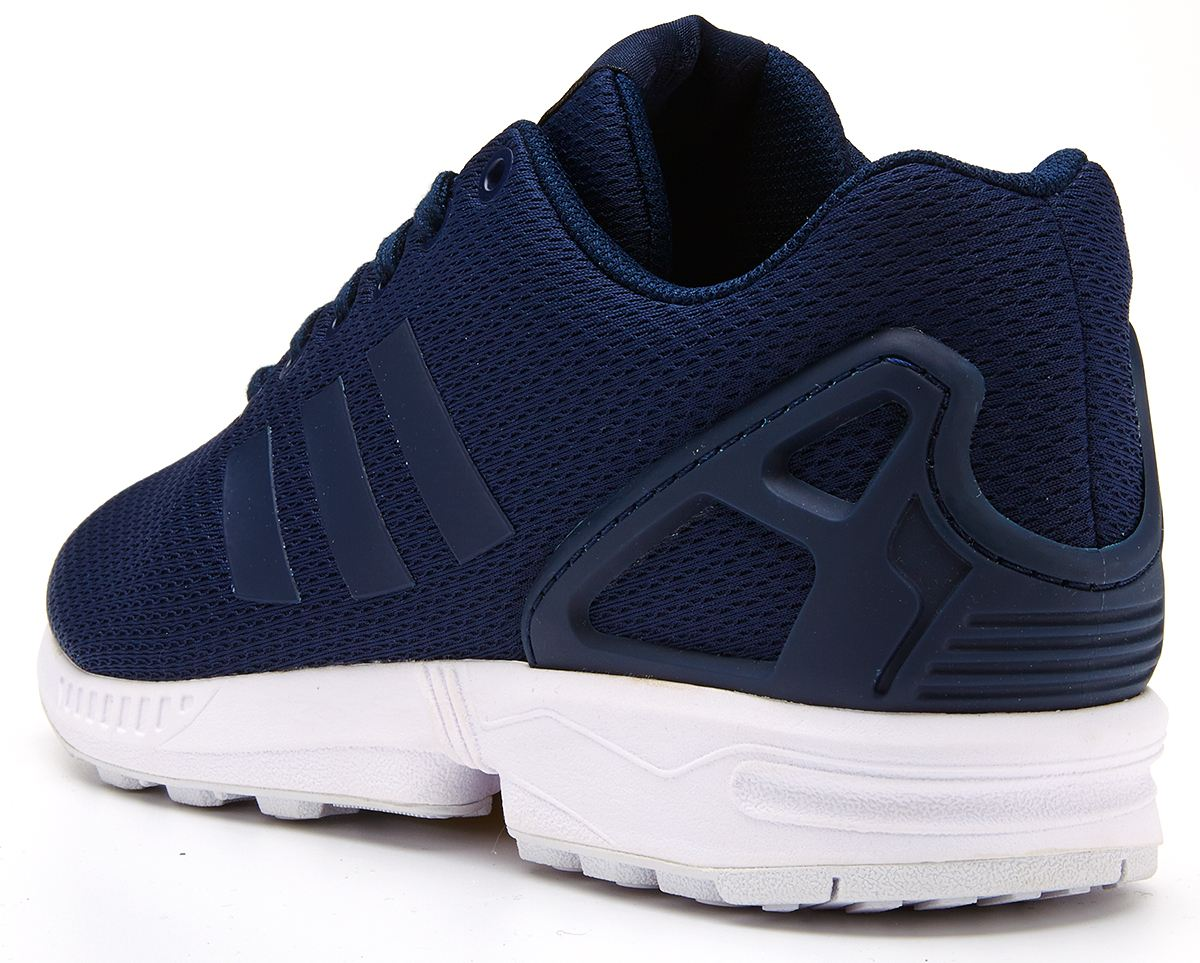adidas zx flux retro running trainers navy blue m19841 ebay. Black Bedroom Furniture Sets. Home Design Ideas