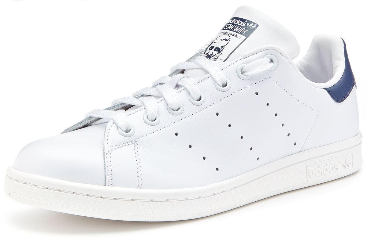 adidas originals baskets stan smith blanc et bleu marine m20325 ebay. Black Bedroom Furniture Sets. Home Design Ideas