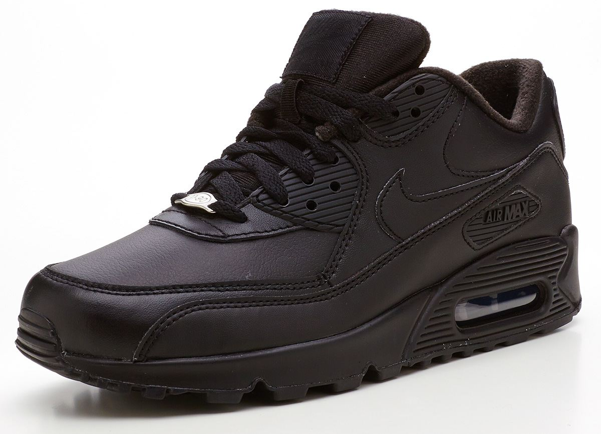black leather nike air max