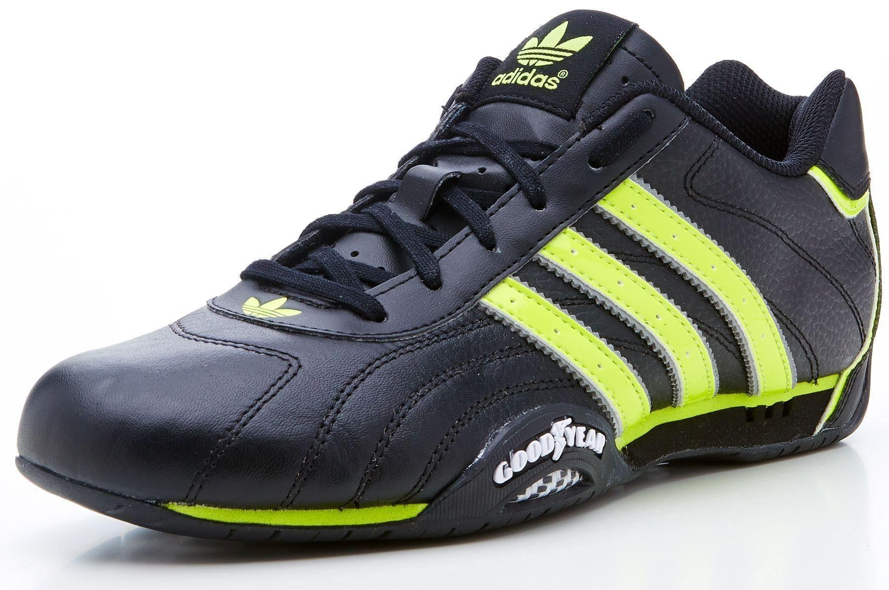 adidas originals goodyear adi racer trainers black green. Black Bedroom Furniture Sets. Home Design Ideas
