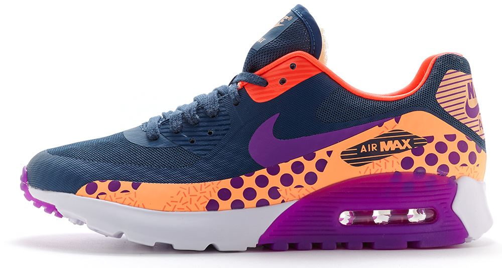 newest add6c c65f9 ... france tennis nike air max 90 ultra br pour femme imprimé bleu et  violet vif 807352 ...