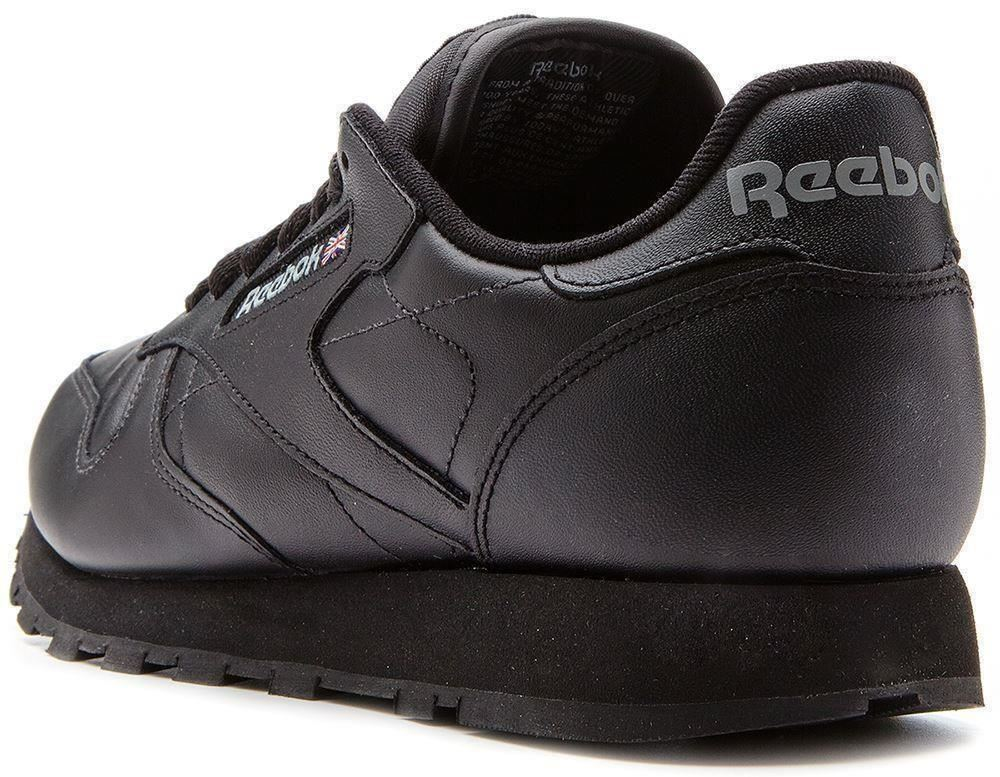reebok classic leather retro trainers in black 2267 ebay. Black Bedroom Furniture Sets. Home Design Ideas