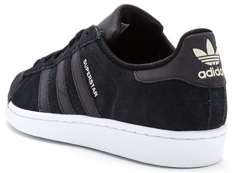 isbmh Adidas Originals Superstar RT Tech Pack Suede Trainers in Black
