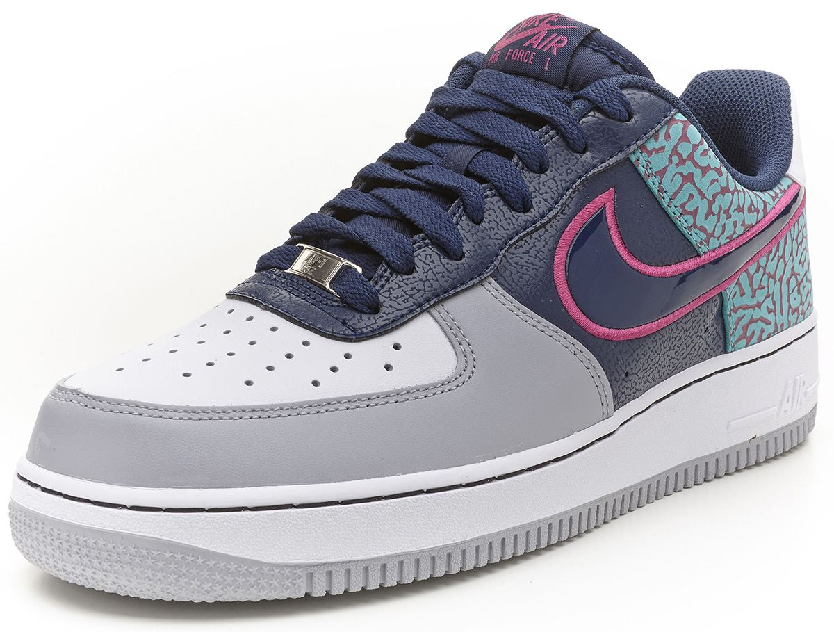 nike air force 1 navy pink trainers shoes 488298 417 ebay. Black Bedroom Furniture Sets. Home Design Ideas