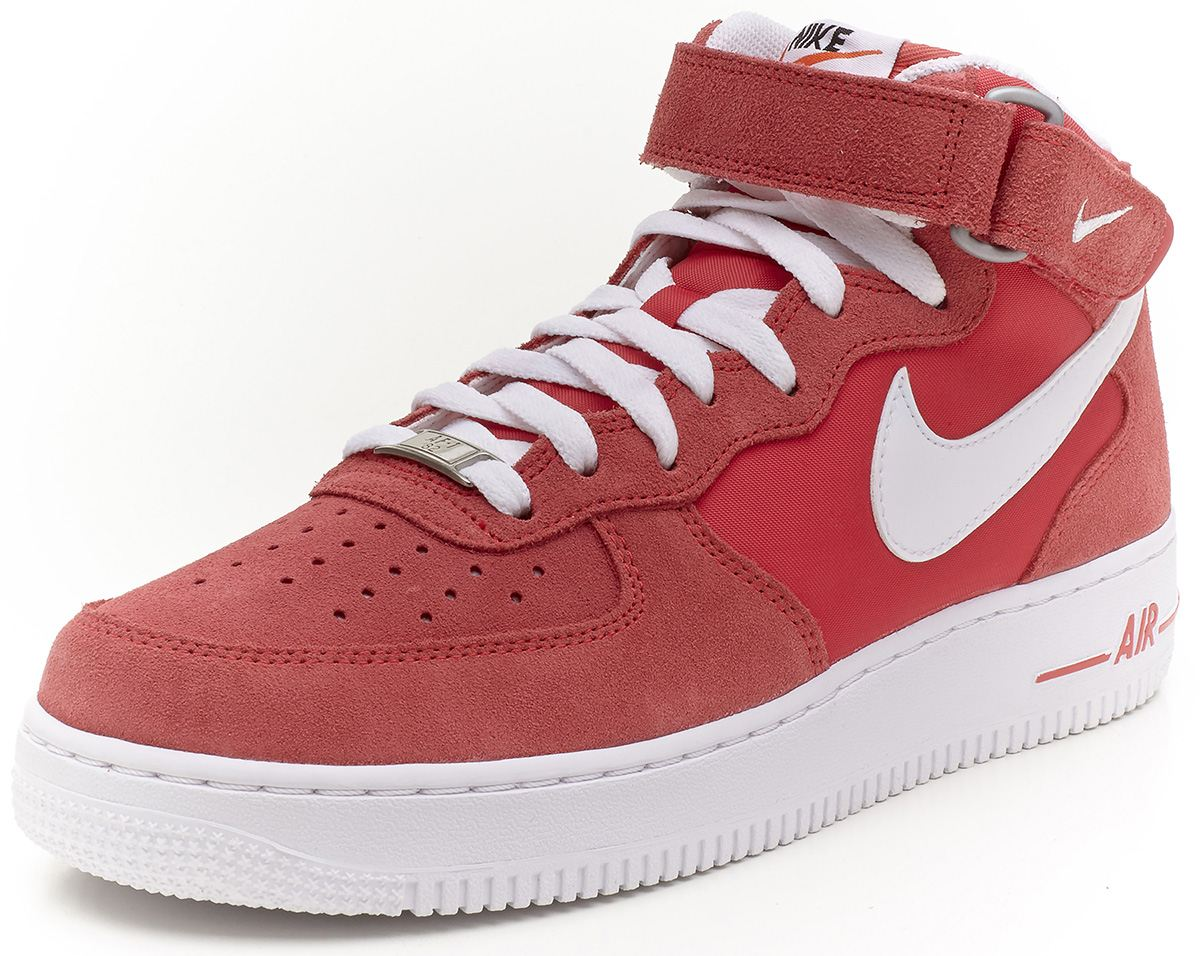 nike air force 1 mid suede fusion red pink trainers 315123 604 ebay. Black Bedroom Furniture Sets. Home Design Ideas