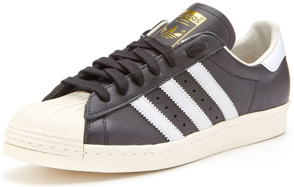 adidas superstar nere in pelle
